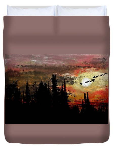 The Buddy System Duvet Cover by R Kyllo