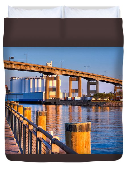The Buffalo Skyway Duvet Cover