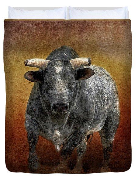 The Bull Duvet Cover by Jim  Hatch