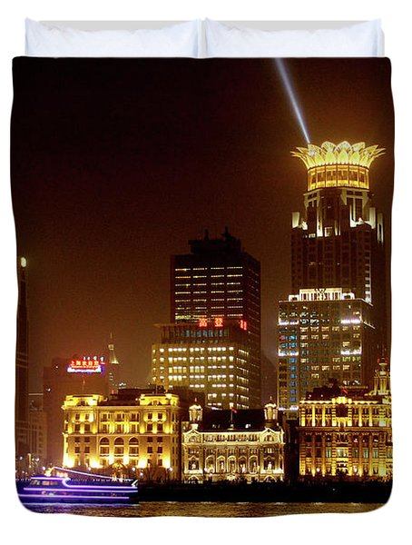 The Bund - Shanghai's Magnificent Historic Waterfront Duvet Cover by Christine Till