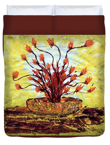 Duvet Cover featuring the painting The Burning Bush by J R Seymour