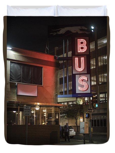 The Bus Stop Duvet Cover