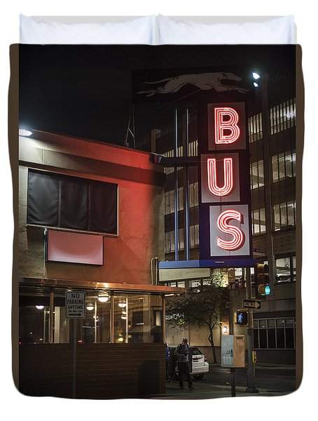The Bus Stop Duvet Cover