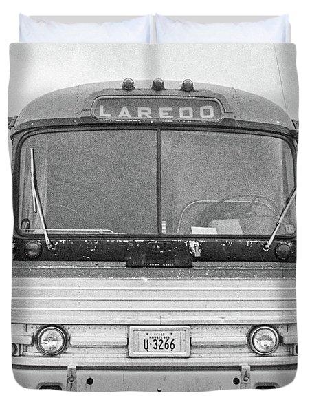 The Bus To Laredo Duvet Cover