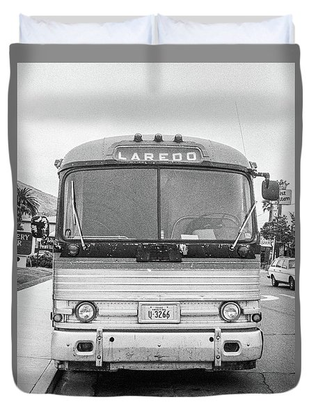 The Bus To Laredo Duvet Cover