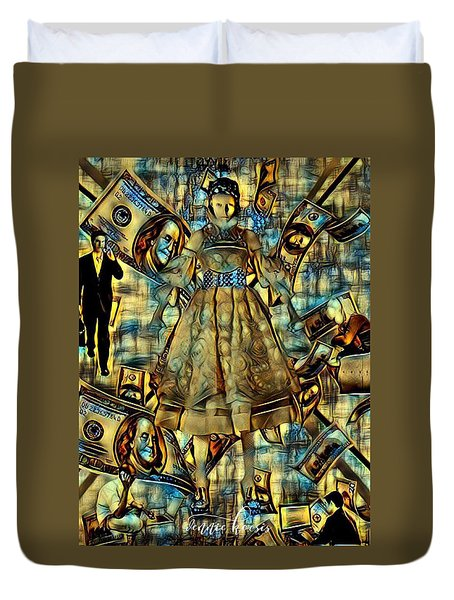 The Business Of Humans Duvet Cover by Vennie Kocsis