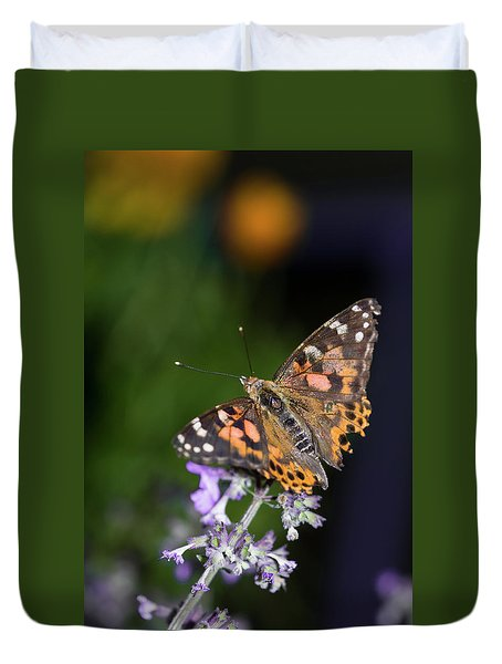 Duvet Cover featuring the photograph The Butterfly Effect by Alex Lapidus