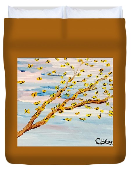 The Butterfly Tree Duvet Cover