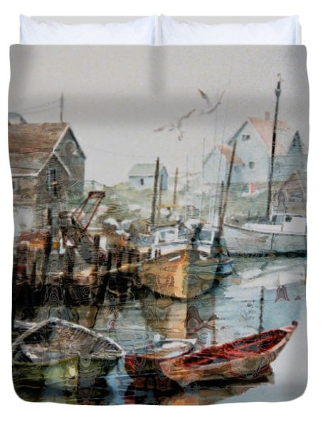 The B'y That Catches The Fish Duvet Cover