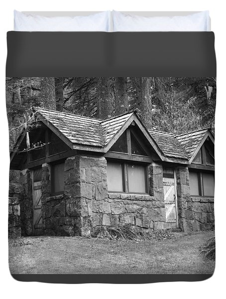 The Cabin Duvet Cover by Angi Parks