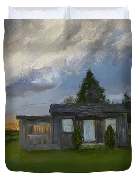 The Cabin On The Hill Duvet Cover