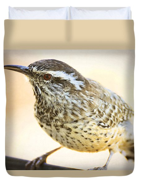 The Cactus Wren  Duvet Cover by Saija  Lehtonen