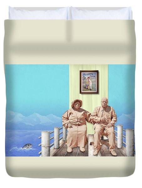 The Cadburys On Vacation Duvet Cover