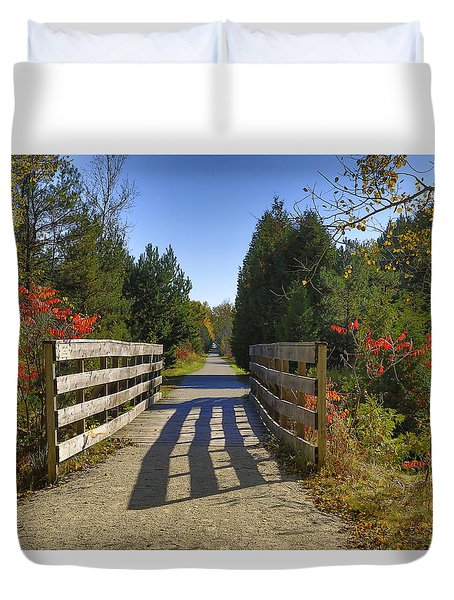 Duvet Cover featuring the photograph The Caledon Trailway by Gary Hall