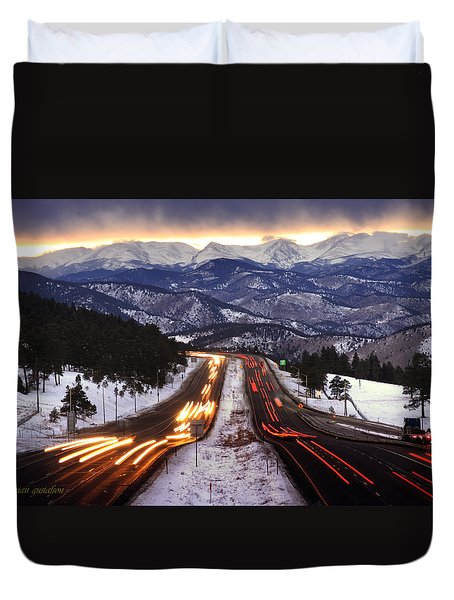 The Call Of The Mountains Duvet Cover