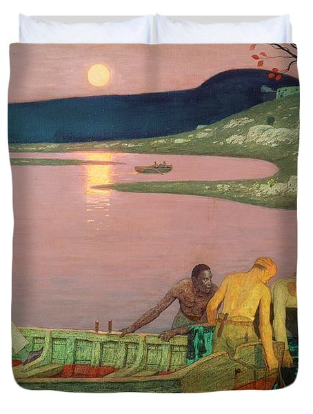 The Call Of The Sea Duvet Cover by Frederick Cayley Robinson
