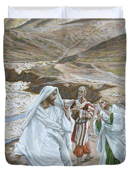 The Calling Of St. Andrew And St. John Duvet Cover by Tissot