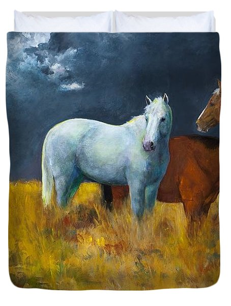 The Calm After The Storm Duvet Cover by Frances Marino