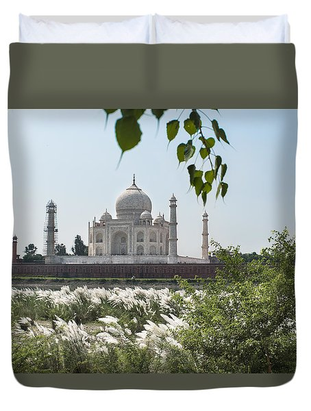 The Calm Behind The Taj Mahal Duvet Cover