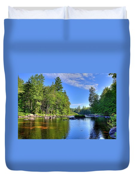 Duvet Cover featuring the photograph The Calm Below Buttermilk Falls by David Patterson