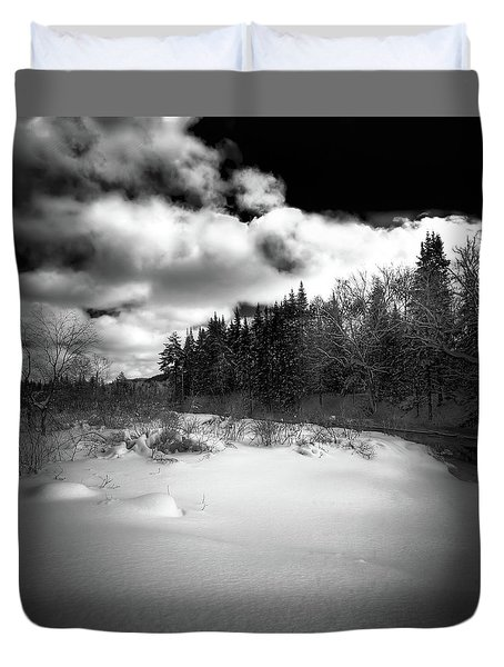 Duvet Cover featuring the photograph The Calm Of Winter by David Patterson