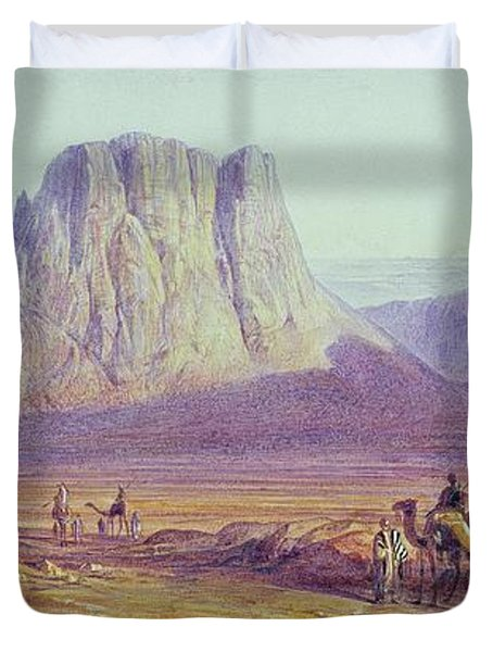 The Camel Train Duvet Cover by Edward Lear