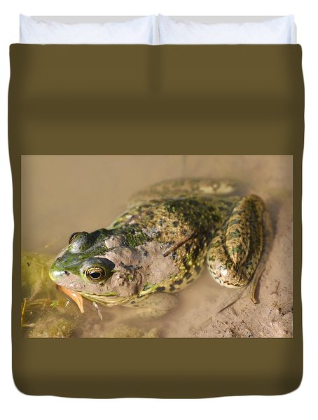 The Camouflage Frog Duvet Cover