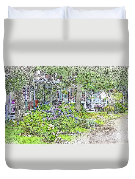 The Campground-martha's Vineyard Duvet Cover