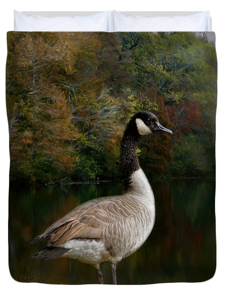 The Canadian Goose Duvet Cover by Jai Johnson