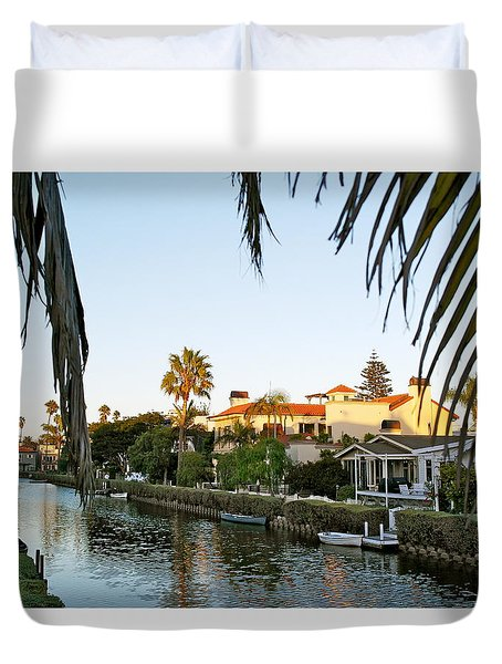 The Canals Of Venice - California Duvet Cover by Michele Myers