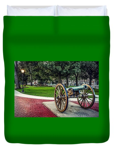 The Cannon In The Park Duvet Cover