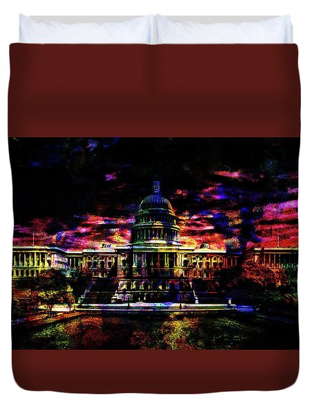 The Capital At Night Duvet Cover