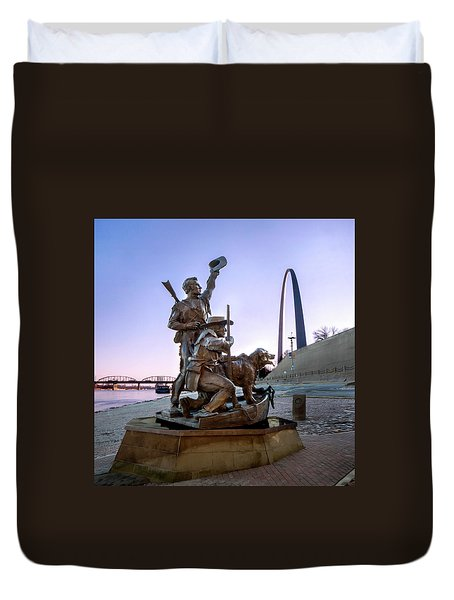 The Captain Returns With Arch Duvet Cover