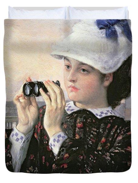 The Captain's Daughter Duvet Cover by Tissot