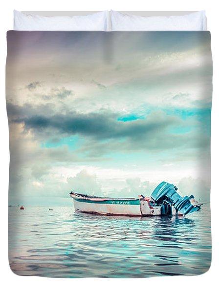 The Caribbean Morning Duvet Cover