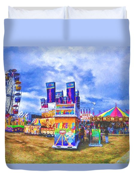 Duvet Cover featuring the photograph The Carnival by Dave Luebbert