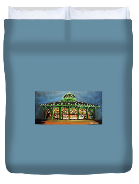 The Carousel Of Asbury Park Duvet Cover
