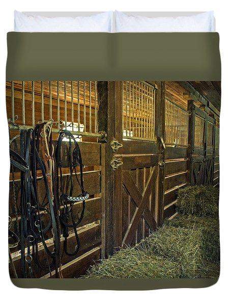 The Carriage House Duvet Cover by Judy  Johnson
