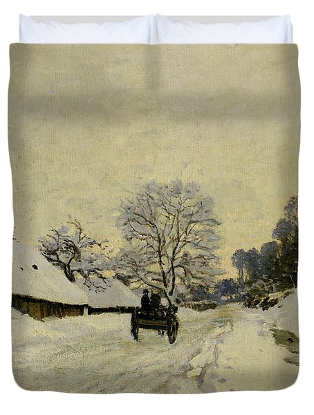 The Cart Duvet Cover by Claude Monet