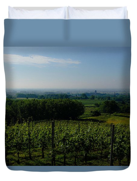 The Castle And Its Lands Duvet Cover