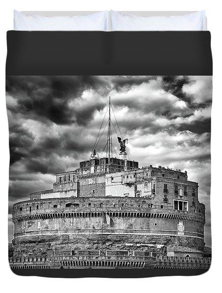 The Castle Of Sant'angelo In Rome Duvet Cover