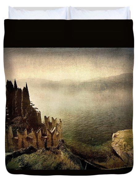 The Castle On The Lake. Malcesine Duvet Cover