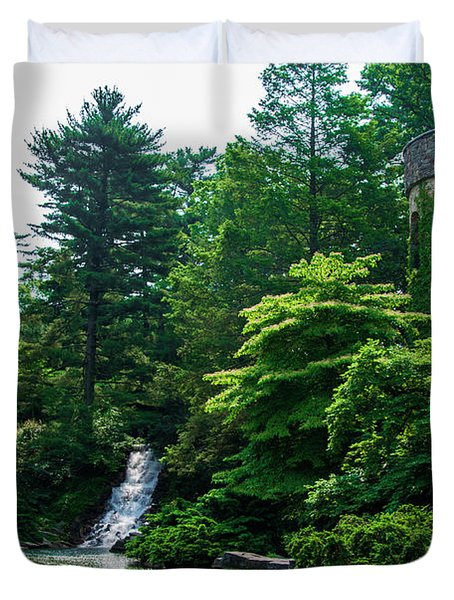 The Castle Tower At Longwood Gardens Duvet Cover