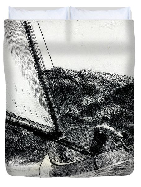 The Cat Boat Duvet Cover