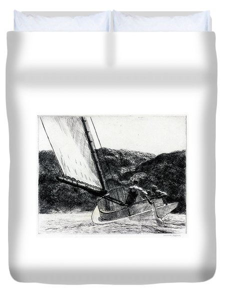 The Cat Boat Duvet Cover