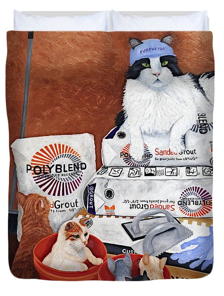 The Cat Crew Duvet Cover
