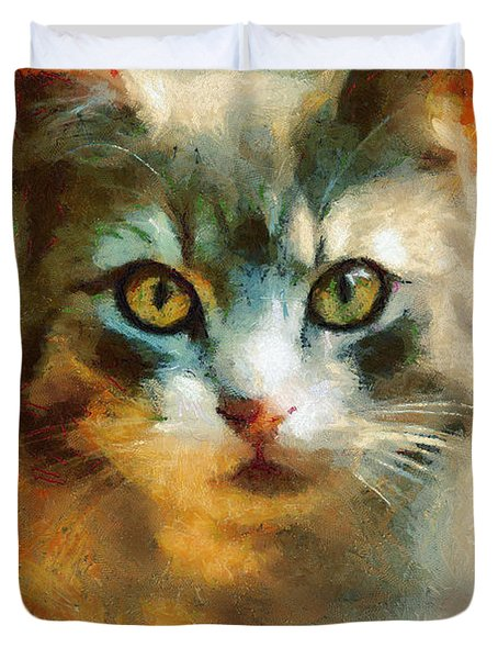 The Cat Eyes Duvet Cover