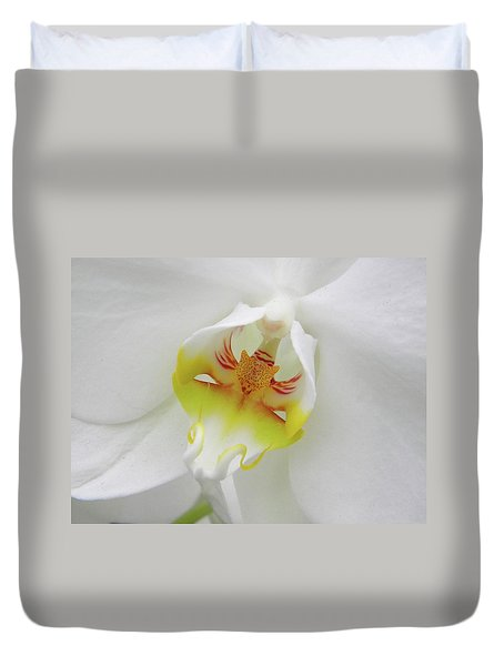 The Cat Side Of An Orchid Duvet Cover by Manuela Constantin