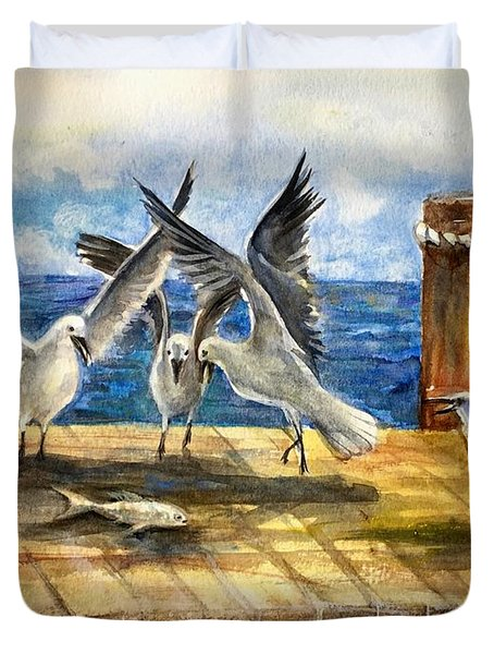 The Catch Is Mine Duvet Cover