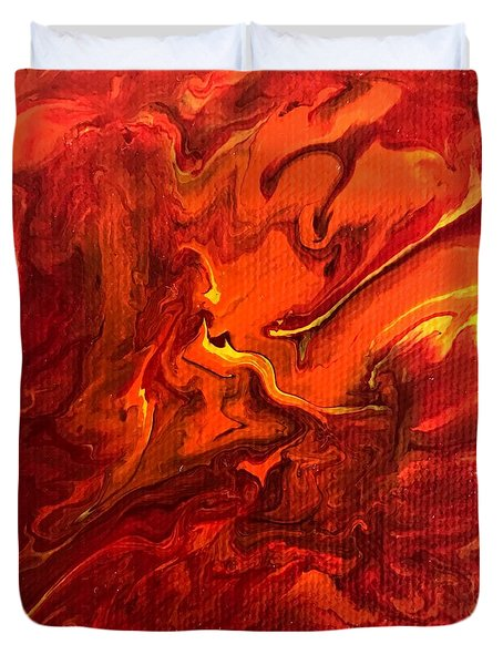 Duvet Cover featuring the painting Chimera by Robbie Masso